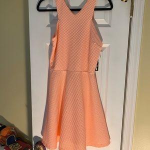 Peach Racer Back Skater Dress- Large